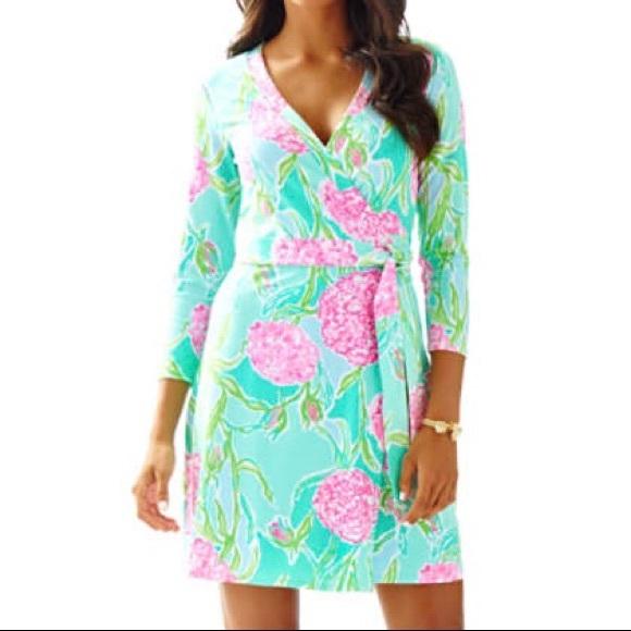8fe8798fb6b83e Lilly Pulitzer Dresses & Skirts - Lilly Pulitzer Meridan Printed Wrap Dress
